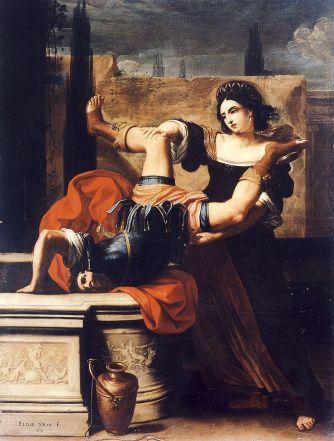 Sirani,_Elisabetta_-_Timoclea_uccide_il_capitano_di_Alessandro_Magno_-_1659